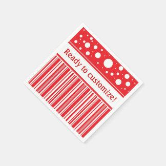 Rotes u. weißes Weihnachten Papierserviette