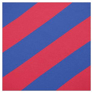 Rotes und blaues gestreiftes Muster Stoff