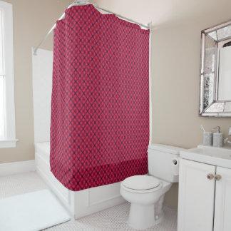 Rotes und blaues modernes geometrisches Muster Duschvorhang