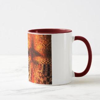 Rotes und gelbes Schachbrett Tasse