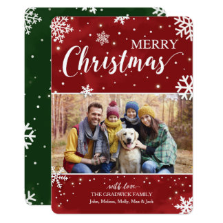 Rotes und grünes Weihnachten Karte