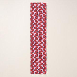 rotes und rosa Muster des Herzform-Gekritzels Schal