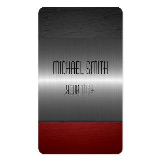 Rotes und schwarzes Edelstahl-Metall Visitenkarten