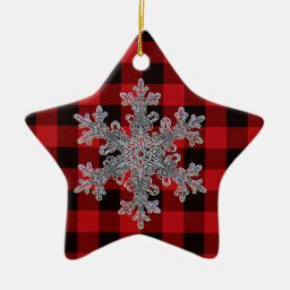 Rotes und schwarzes kariertes des Landes - Keramik Ornament