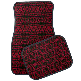 Rotes und schwarzes Muster Automatte