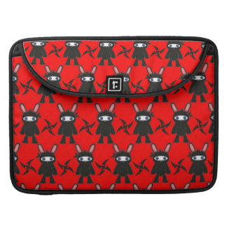 Rotes und schwarzes Ninja Häschen-Muster Sleeve Für MacBook Pro