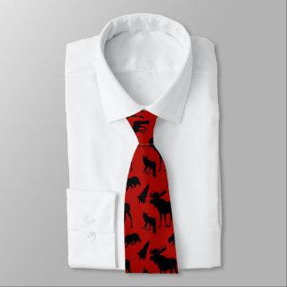Rotes und schwarzes Waldmuster Krawatte