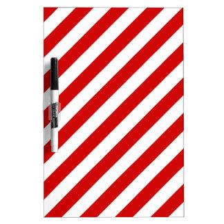 Rotes und weißes diagonales Streifen-Muster Memoboard