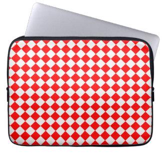 Rotes und weißes Diamant-Muster durch Laptop Sleeve