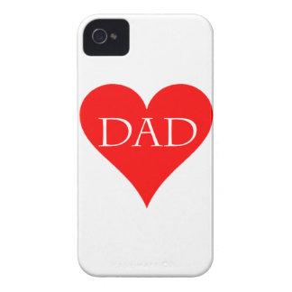 Rotes Vatertagsgeschenk Herz Case-Mate iPhone 4 Hüllen