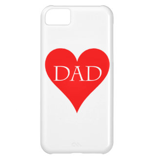 Rotes Vatertagsgeschenk Herz iPhone 5C Cover