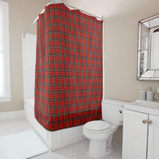 Rotes Vintages kariertes Muster Duschvorhang
