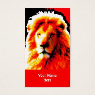 Rotes Visitenkartehauptrot des Löwes Visitenkarte