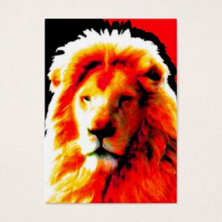 Rotes Visitenkartehauptschwarzes des Löwes mollig Visitenkarte