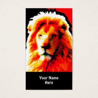 Rotes Visitenkartehauptschwarzes des Löwes Visitenkarte