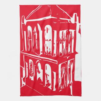 Rotes Vogelkäfig-Geschirrtuch Handtuch