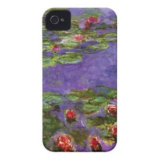 Rotes Wasser-Lilien-Claude Monet-schöne Kunst iPhone 4 Etuis