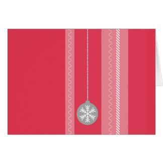 Rotes Weihnachten Karte
