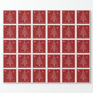 rotes WeihnachtsPackpapier Geschenkpapier
