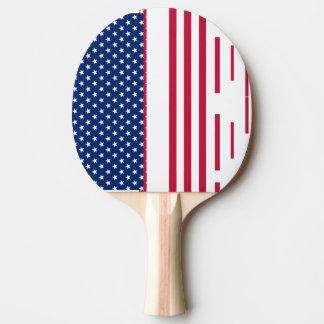 Rotes Weiß USA spielt Tischtennis Schläger