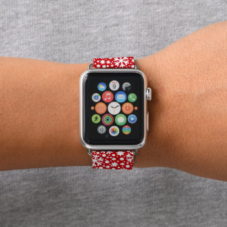 Rotes weißes apple watch armband