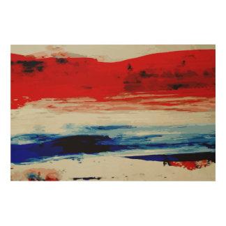 Rotes weißes Blau 2 Holzwanddeko