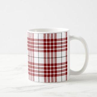 Rotes weißes kariertes Buchanan-Clan Tartan Kaffeetasse