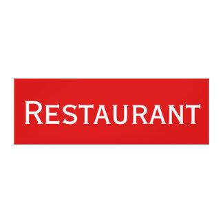 Rotes weißes Restaurant-Wort-kundenspezifischer Galerie Gefaltete Leinwand