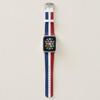 Rotes weißes und blau apple watch armband