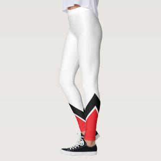 Rotes weißes und schwarz leggings