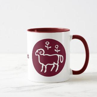 Rotes Widder-Tierkreis-Zeichen Tasse