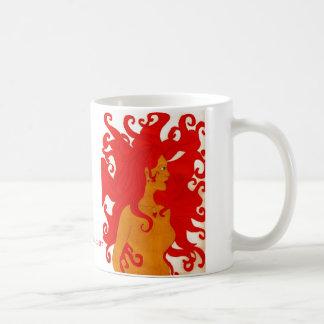 rotes wildes Haar der Meerjungfrau Kaffeetasse