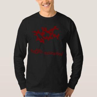 Rotes zusammenrufendes Weedaula Hemd
