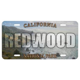 Rotholz-Nationalpark-Kfz-Kennzeichen US Nummernschild