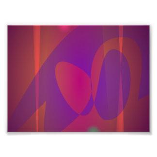 Rötlich braune einfache abstrakte Kunst Foto Druck