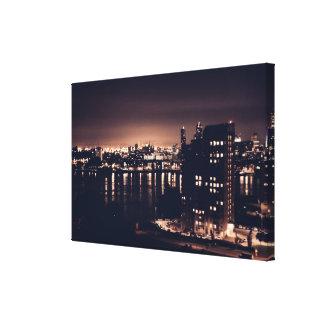 Rotterdam an der NachtlandschaftsSingle-Leinwand Leinwanddruck
