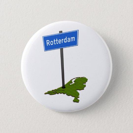 Rotterdam verkeersbord runder button 5,1 cm