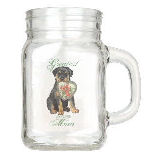 Rottweiler Herz-Mamma Einmachglas