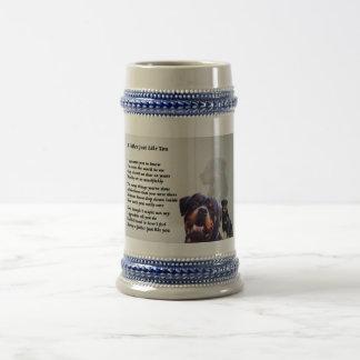 Rottweiler Hundevater-Gedicht Bierglas