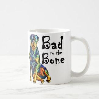 Rottweiler - Schlechtes zum Knochen Kaffeetasse