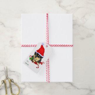 Rottweiler Welpen-Weihnachtsgeschenke Geschenkanhänger