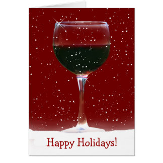 Rotwein-frohe Feiertage Karte