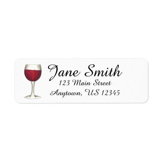 Rotwein-personalisierte Adressen-Etikett