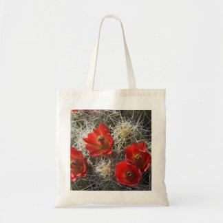 Rotwein-Schalen-Kaktus-Tasche Tragetasche