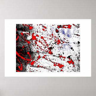 Rotweiß Posterdruck