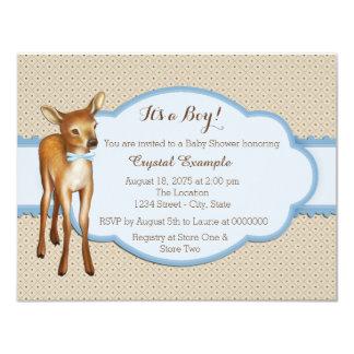Rotwild-Babyparty 10,8 X 14 Cm Einladungskarte
