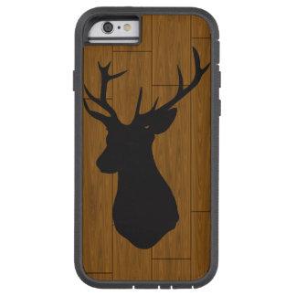 Rotwild-Kopf auf Holz Tough Xtreme iPhone 6 Hülle