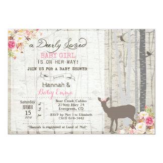 Rotwild-Mädchen-Babyparty-Einladung 12,7 X 17,8 Cm Einladungskarte