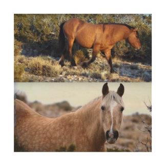ROTWILD Pferd-MUSTANG von amerikanischem wildem Holzdrucke