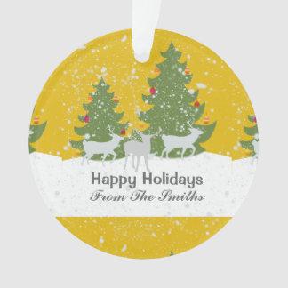 Rotwild-Winter-goldenes Ornament